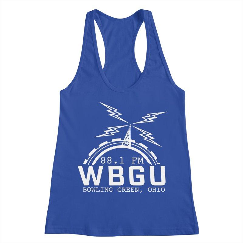 2018 Logo - White Women's Racerback Tank by WBGU-FM's Shop