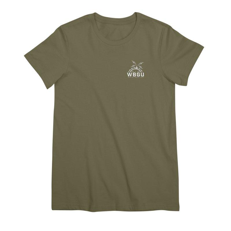 2018 Logo Chest White Women's Premium T-Shirt by WBGU-FM's Shop