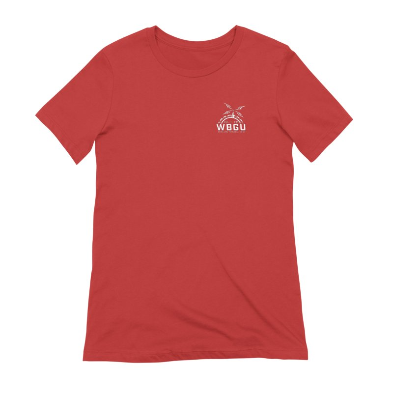 2018 Logo Chest White Women's Extra Soft T-Shirt by WBGU-FM's Shop