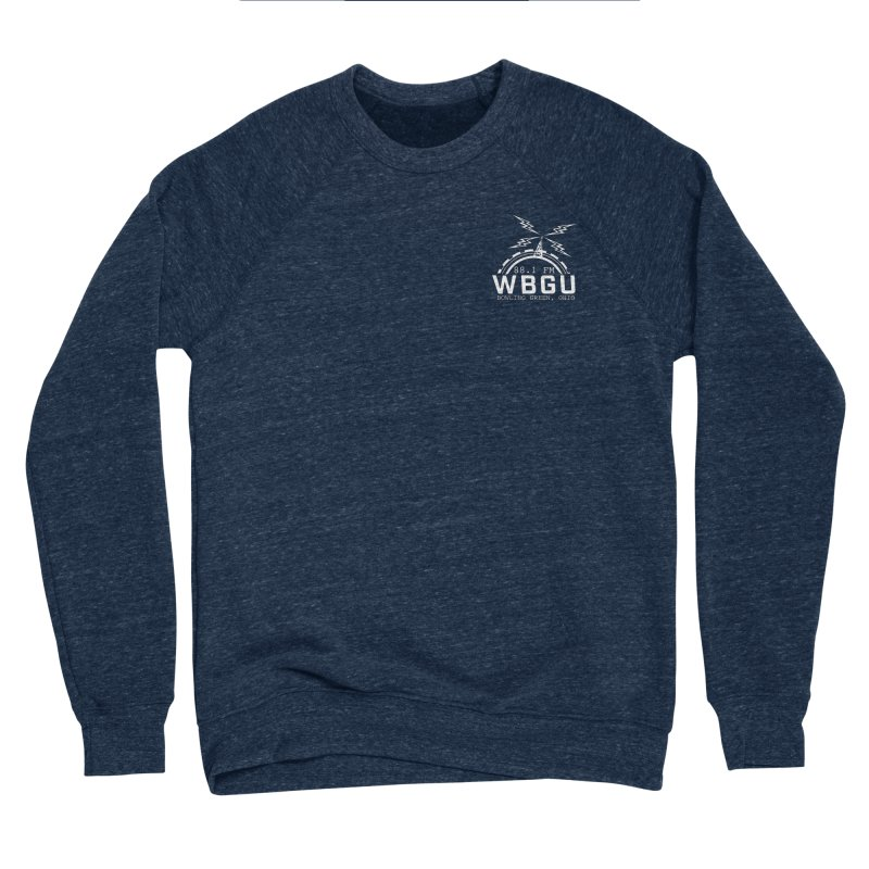 2018 Logo Chest White Men's Sponge Fleece Sweatshirt by WBGU-FM's Shop