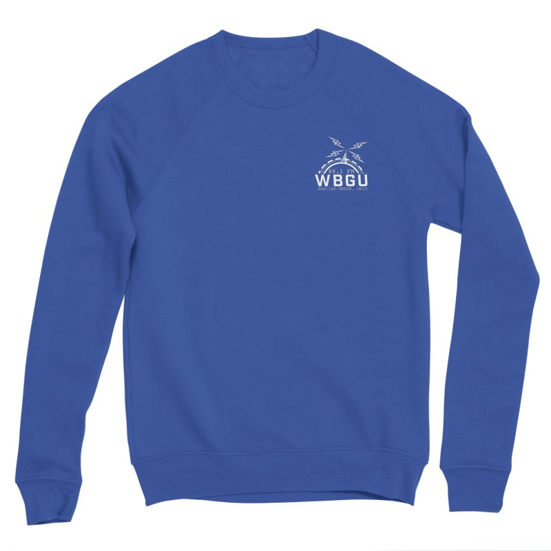 2018 Logo Chest White Men's Sponge Fleece Sweatshirt by WBGU-FM's Shop