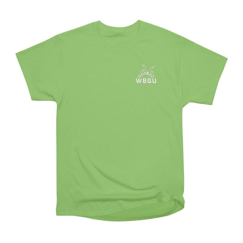 2018 Logo Chest White Men's Heavyweight T-Shirt by WBGU-FM's Shop