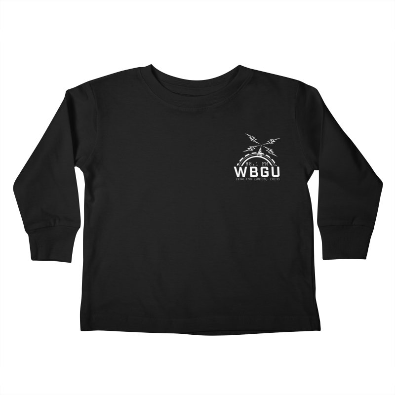 2018 Logo Chest White Kids Toddler Longsleeve T-Shirt by WBGU-FM's Shop