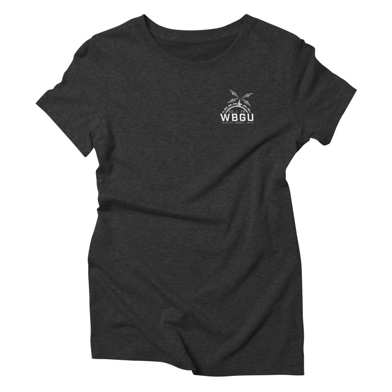 2018 Logo Chest White Women's Triblend T-Shirt by WBGU-FM's Shop