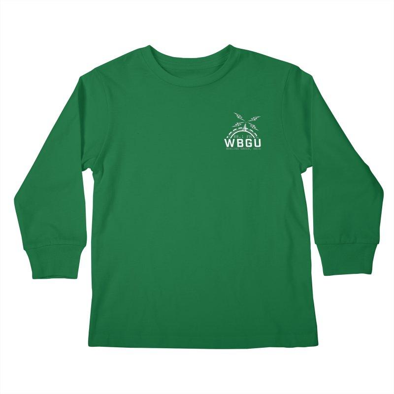2018 Logo Chest White Kids Longsleeve T-Shirt by WBGU-FM's Shop