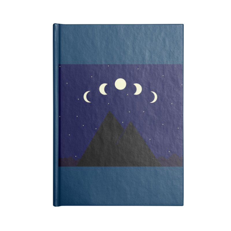 Moons over Mountains Accessories Blank Journal Notebook by wchwriter's Artist Shop