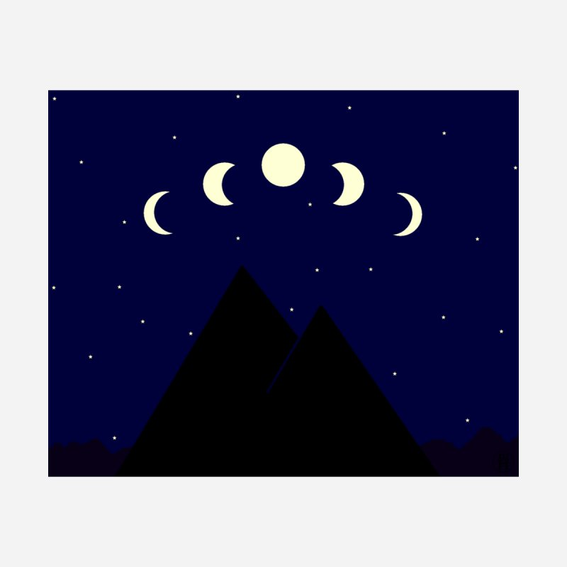 Moons over Mountains by wchwriter's Artist Shop