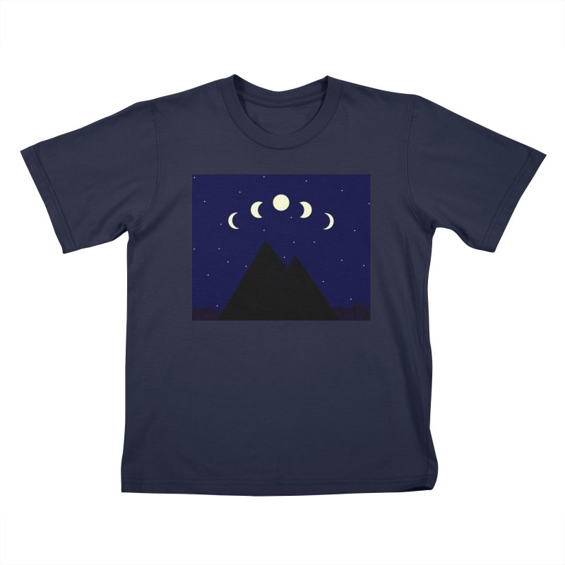 Moons over Mountains Kids T-Shirt by wchwriter's Artist Shop
