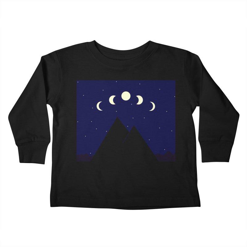 Moons over Mountains Kids Toddler Longsleeve T-Shirt by wchwriter's Artist Shop