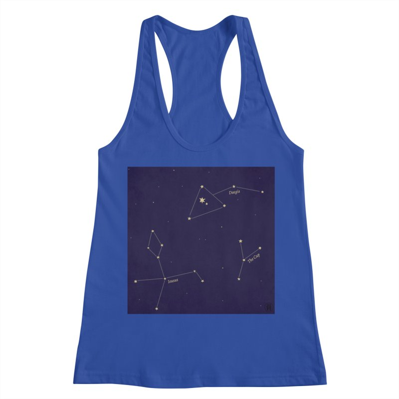 Constellations Women's Racerback Tank by wchwriter's Artist Shop