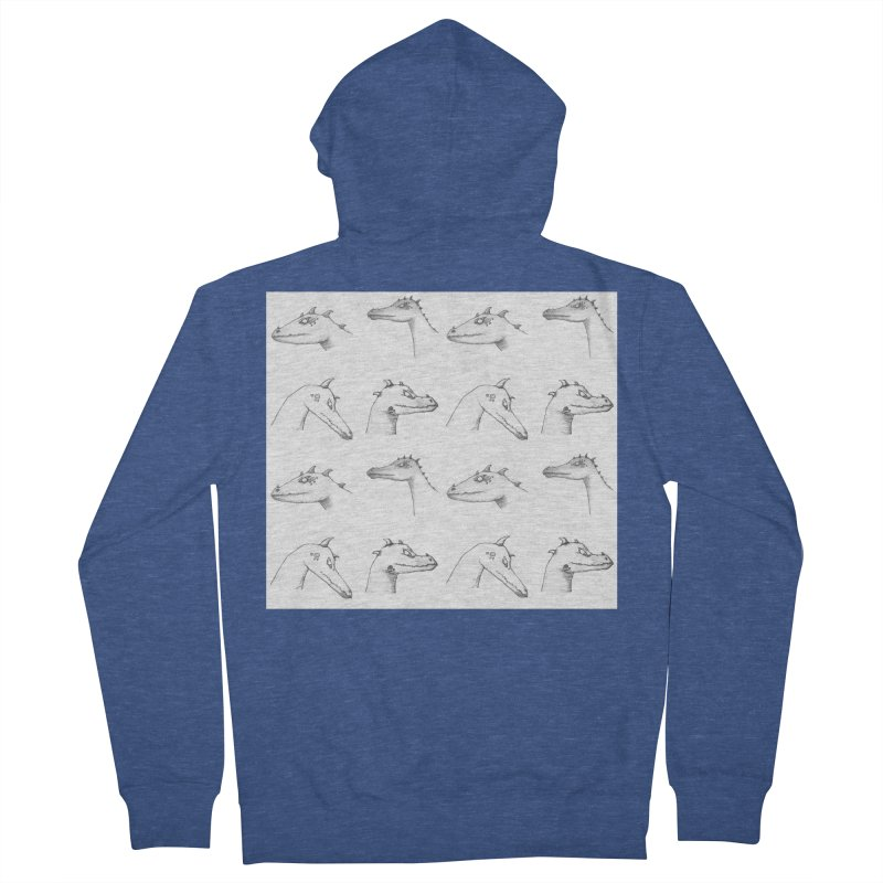 Repeating Dragons Women's French Terry Zip-Up Hoody by wchwriter's Artist Shop