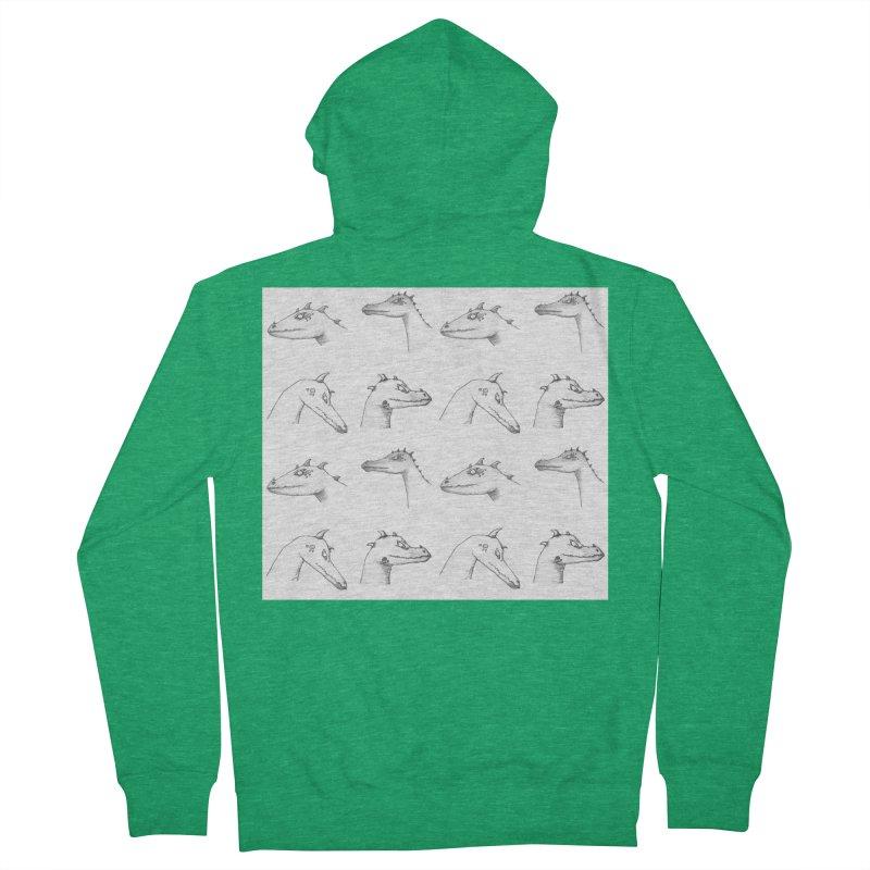 Repeating Dragons Men's Zip-Up Hoody by wchwriter's Artist Shop