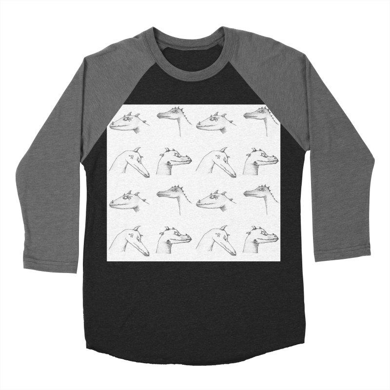 Repeating Dragons Men's Baseball Triblend Longsleeve T-Shirt by wchwriter's Artist Shop