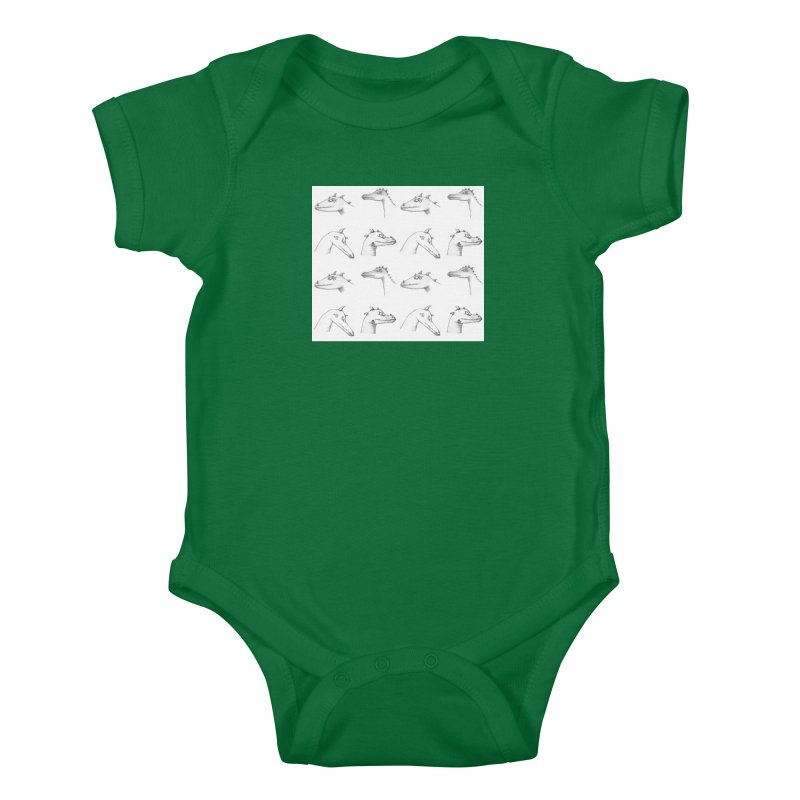 Repeating Dragons Kids Baby Bodysuit by wchwriter's Artist Shop
