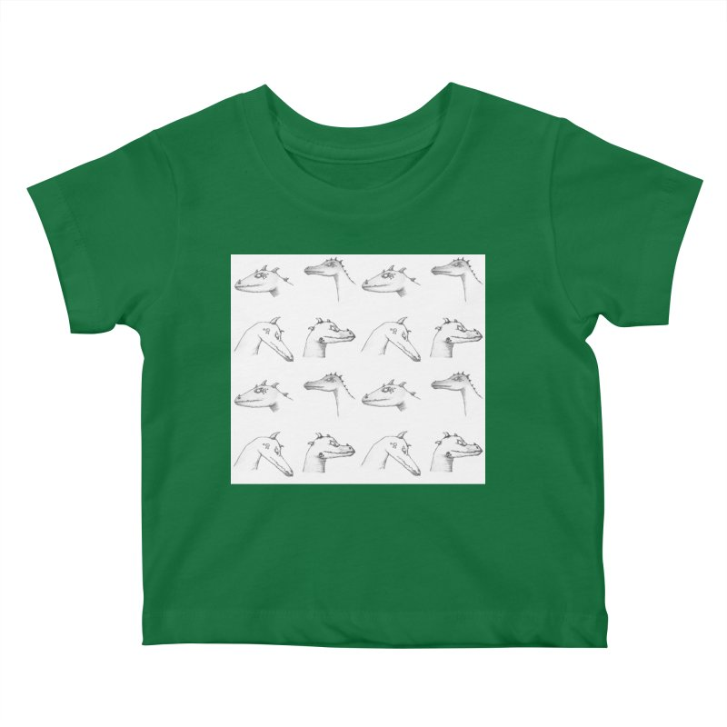 Repeating Dragons Kids Baby T-Shirt by wchwriter's Artist Shop