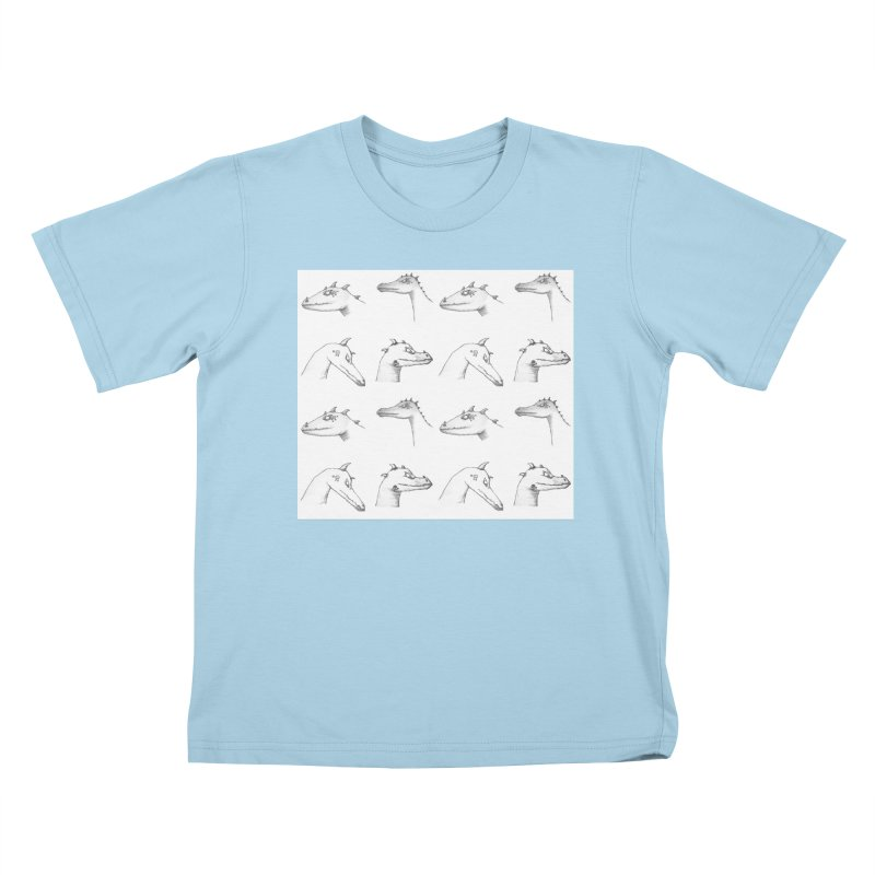 Repeating Dragons Kids T-Shirt by wchwriter's Artist Shop
