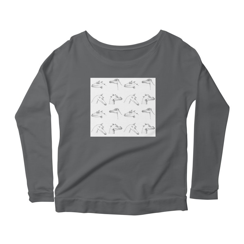 Repeating Dragons Women's Longsleeve T-Shirt by wchwriter's Artist Shop