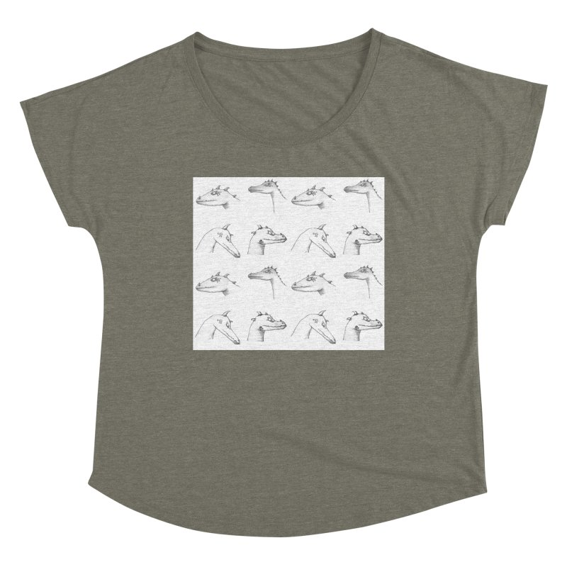 Repeating Dragons Women's Scoop Neck by wchwriter's Artist Shop