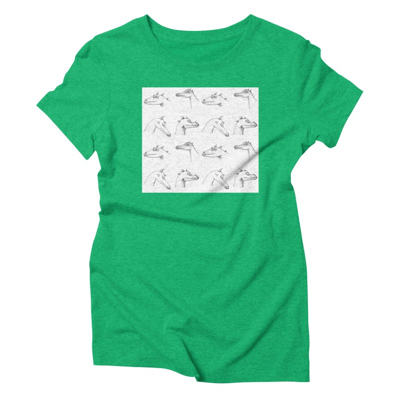 Repeating Dragons Women's Triblend T-Shirt by wchwriter's Artist Shop
