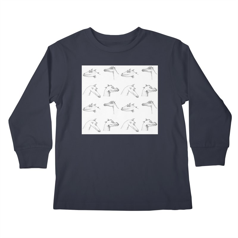 Repeating Dragons Kids Longsleeve T-Shirt by wchwriter's Artist Shop