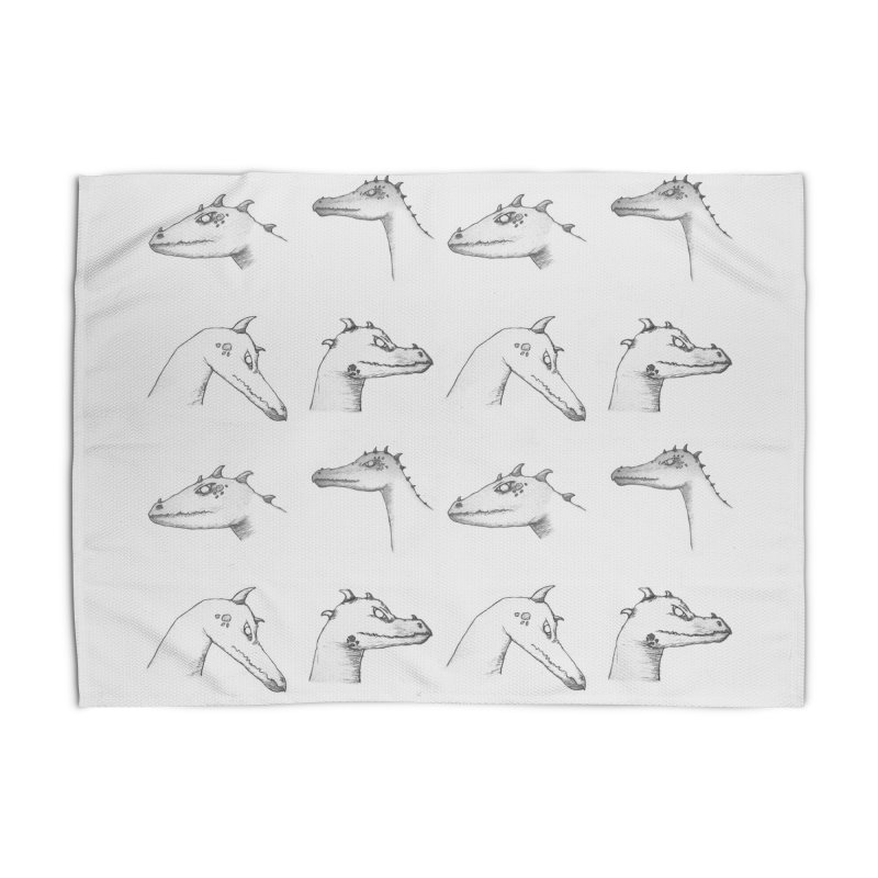 Repeating Dragons Home Rug by wchwriter's Artist Shop