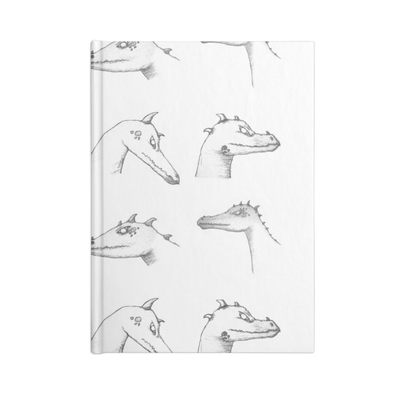 Repeating Dragons Accessories Lined Journal Notebook by wchwriter's Artist Shop