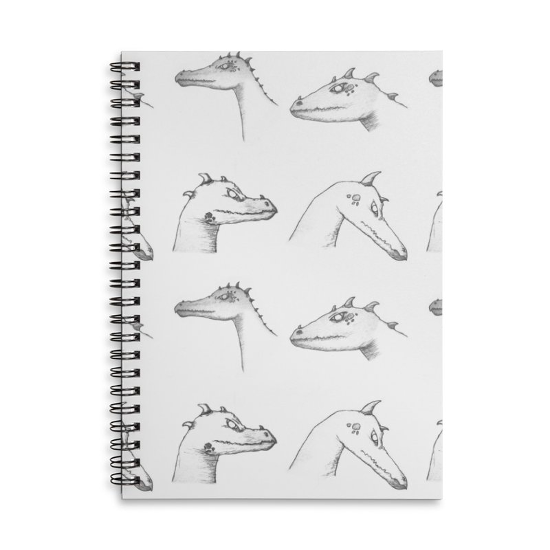 Repeating Dragons Accessories Lined Spiral Notebook by wchwriter's Artist Shop
