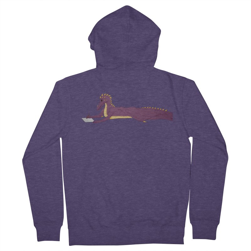 Dragon Writer Men's French Terry Zip-Up Hoody by wchwriter's Artist Shop