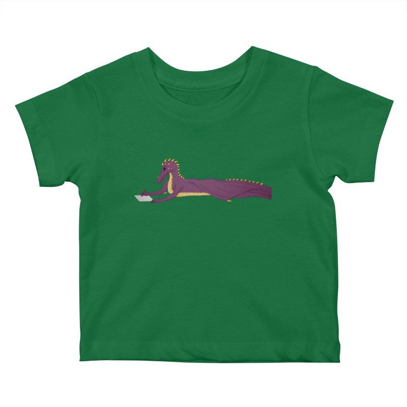 Dragon Writer Kids Baby T-Shirt by wchwriter's Artist Shop