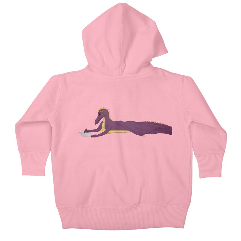 Dragon Writer Kids Baby Zip-Up Hoody by wchwriter's Artist Shop