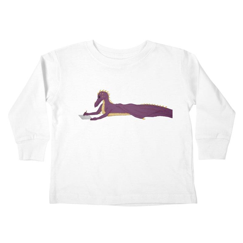 Dragon Writer Kids Toddler Longsleeve T-Shirt by wchwriter's Artist Shop