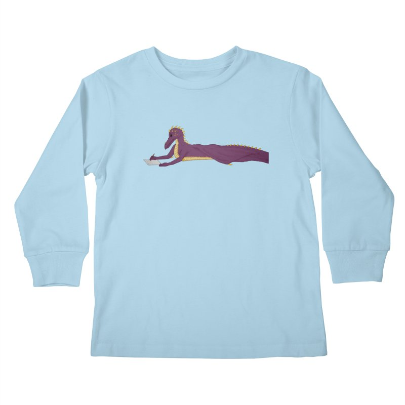 Dragon Writer Kids Longsleeve T-Shirt by wchwriter's Artist Shop