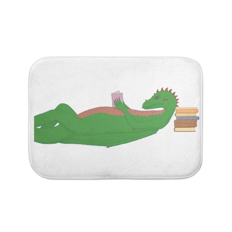 Dragon Reader Home Bath Mat by wchwriter's Artist Shop