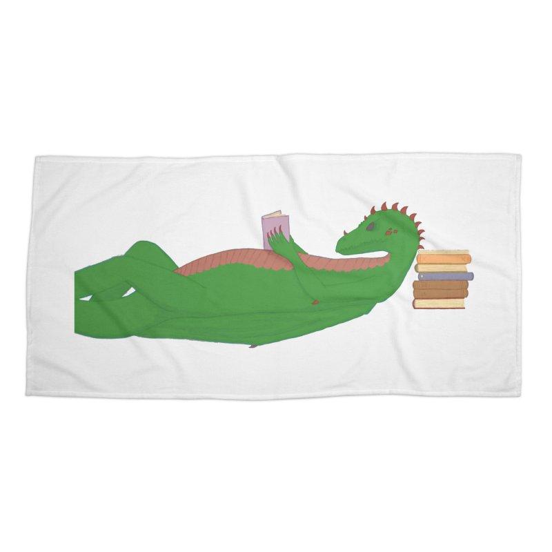 Dragon Reader Accessories Beach Towel by wchwriter's Artist Shop