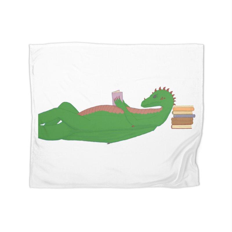 Dragon Reader Home Blanket by wchwriter's Artist Shop