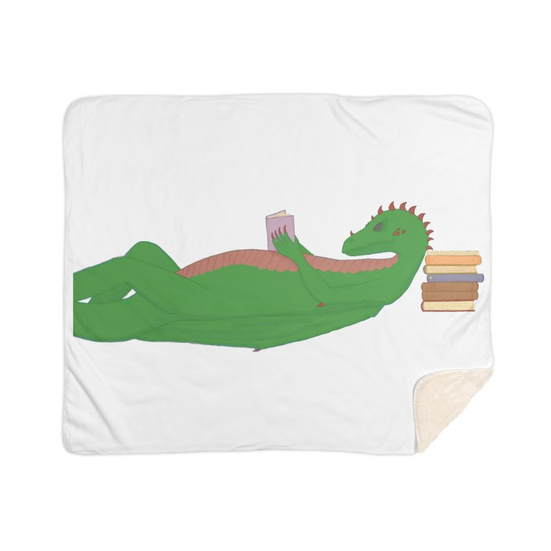 Dragon Reader Home Blanket by wchwriter's Artist Shop