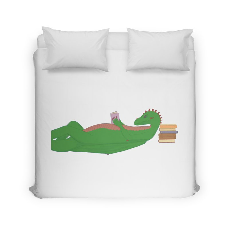 Dragon Reader Home Duvet by wchwriter's Artist Shop