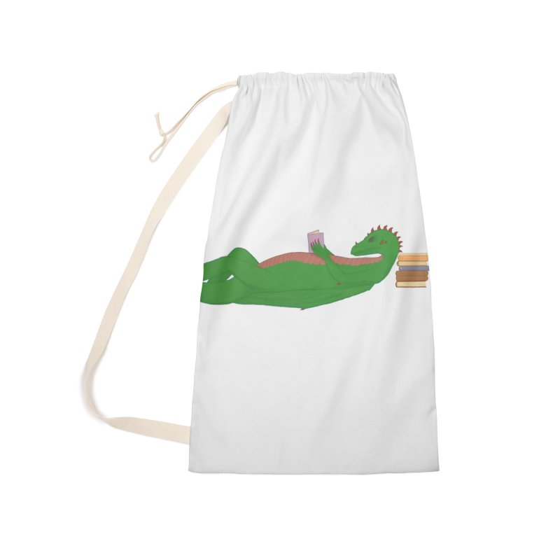 Dragon Reader Accessories Laundry Bag Bag by wchwriter's Artist Shop