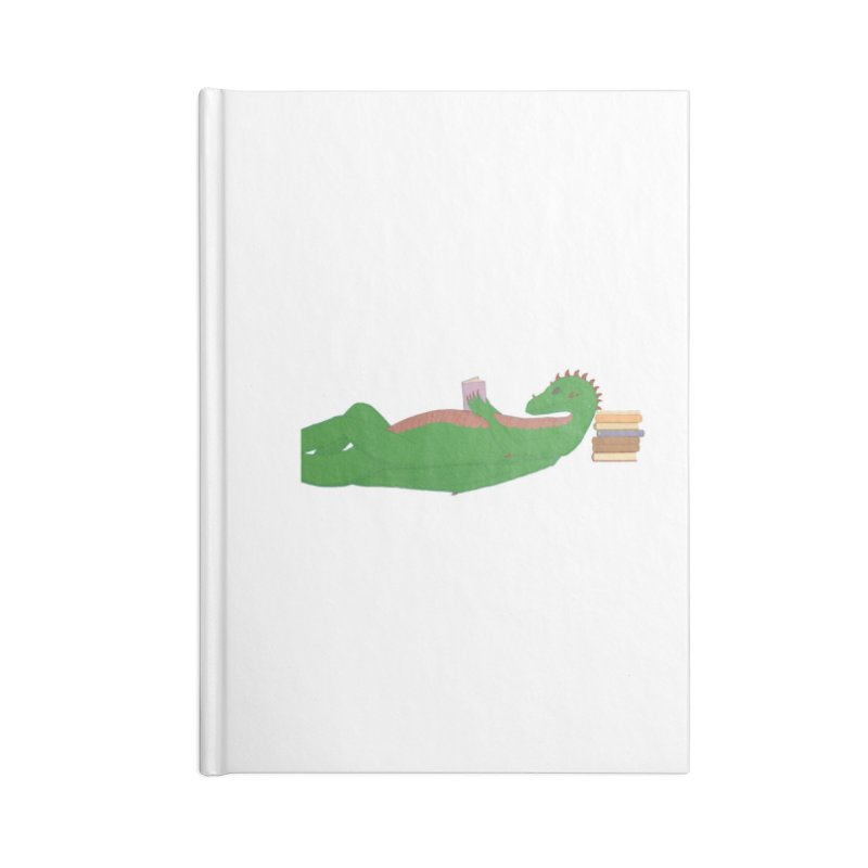 Dragon Reader Accessories Blank Journal Notebook by wchwriter's Artist Shop
