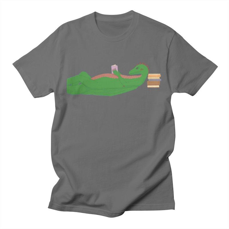 Dragon Reader Men's T-Shirt by wchwriter's Artist Shop