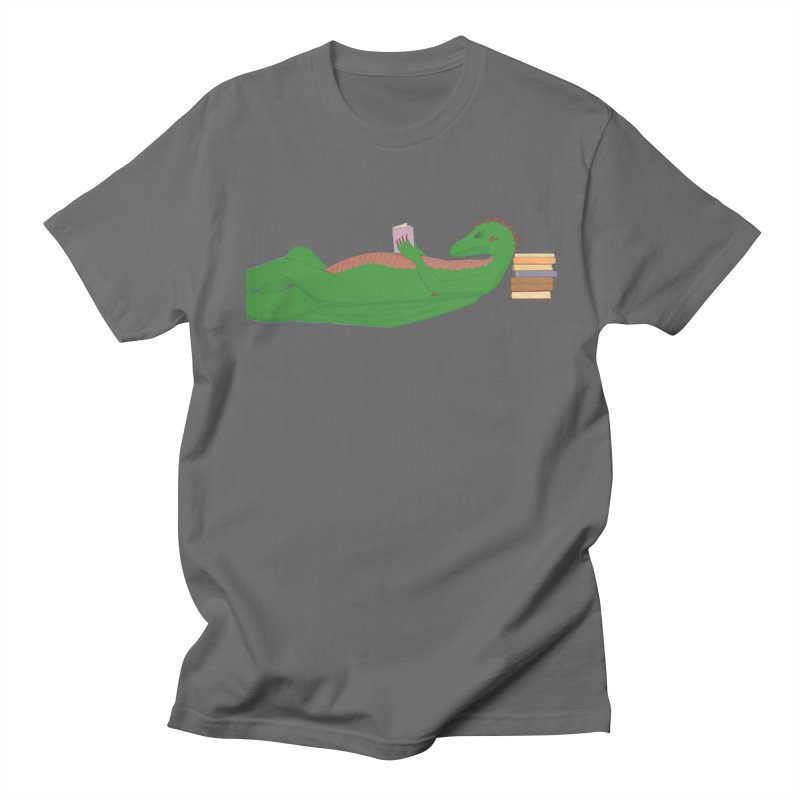 Dragon Reader Men's T-Shirt by wchwriter's Artist Shop