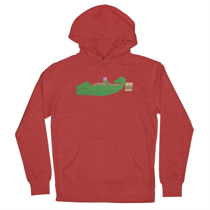 Dragon Reader Men's French Terry Pullover Hoody by wchwriter's Artist Shop