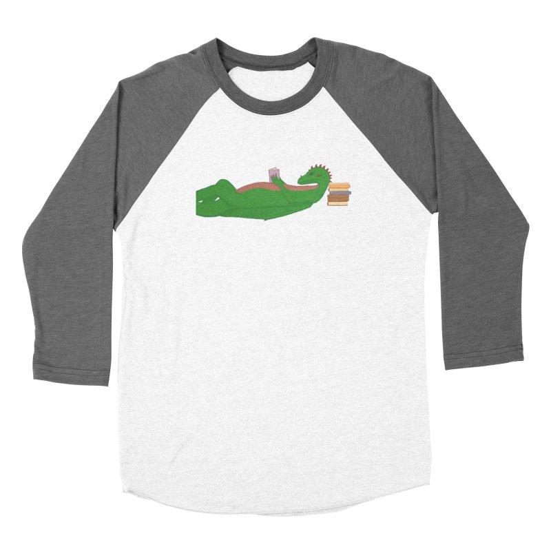 Dragon Reader Women's Longsleeve T-Shirt by wchwriter's Artist Shop