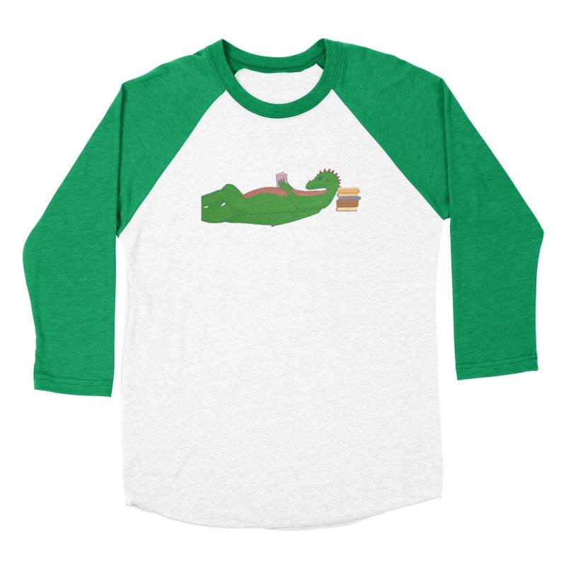 Dragon Reader Women's Baseball Triblend Longsleeve T-Shirt by wchwriter's Artist Shop