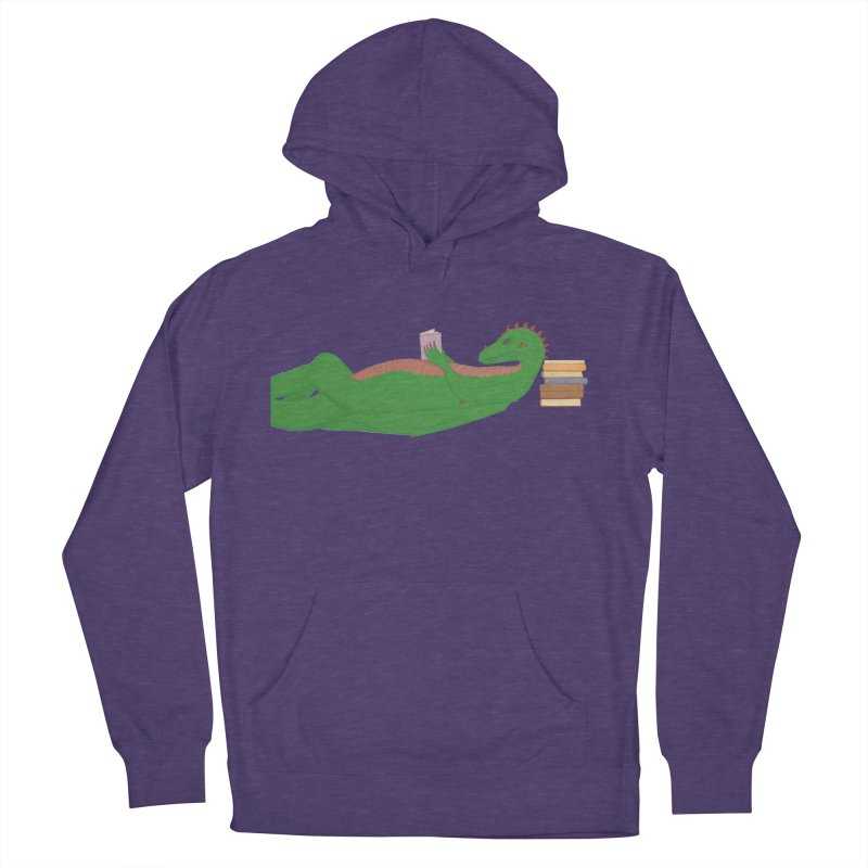 Dragon Reader Women's French Terry Pullover Hoody by wchwriter's Artist Shop