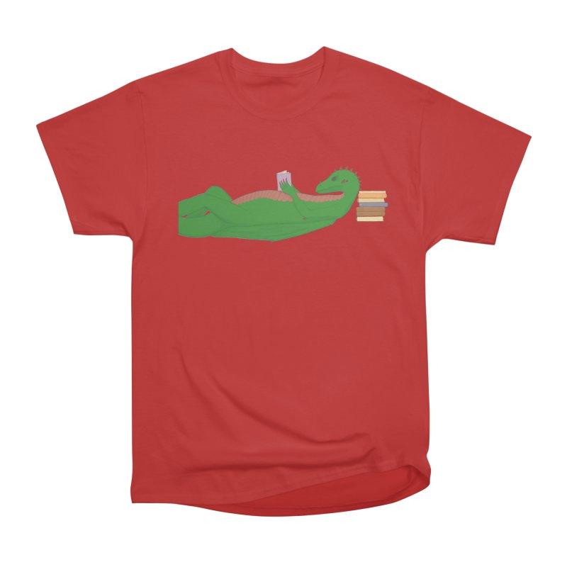 Dragon Reader Women's Heavyweight Unisex T-Shirt by wchwriter's Artist Shop