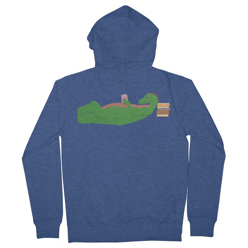 Dragon Reader Men's French Terry Zip-Up Hoody by wchwriter's Artist Shop
