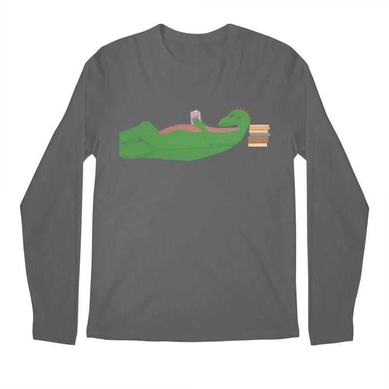 Dragon Reader Men's Regular Longsleeve T-Shirt by wchwriter's Artist Shop