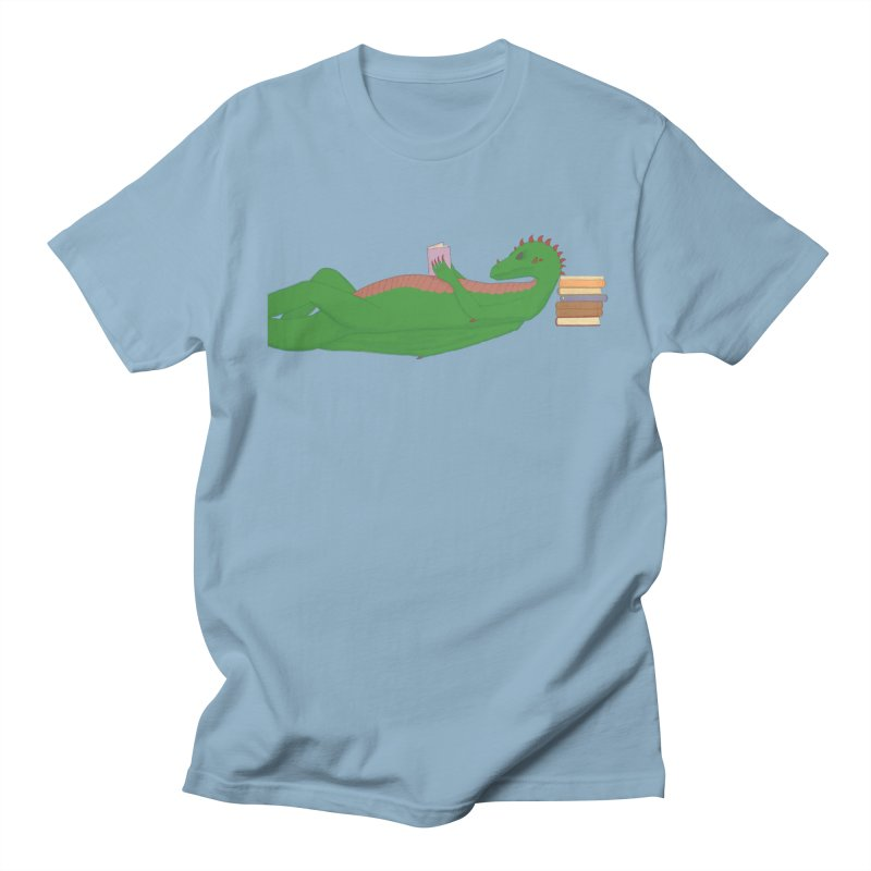 Dragon Reader Women's Regular Unisex T-Shirt by wchwriter's Artist Shop