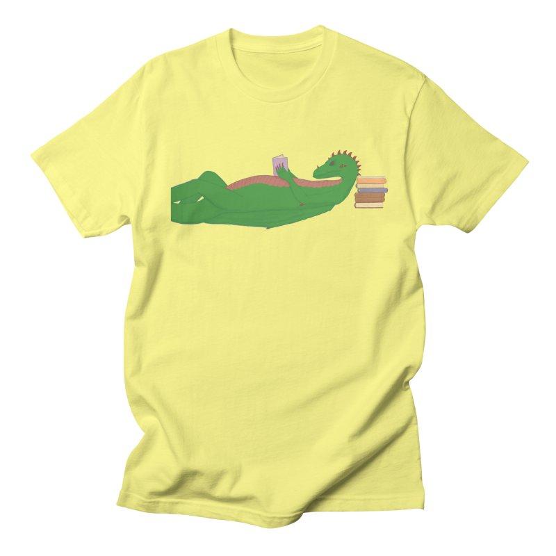 Dragon Reader Men's Regular T-Shirt by wchwriter's Artist Shop